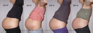 Babybauch 9. Schwangerschaftsmonat - Kind 2