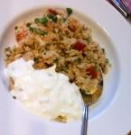 Couscous mit Gurkenquark