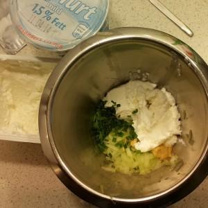 Zubereitung Gurkenquark