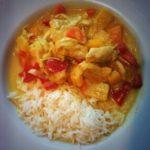 Rezept: Curry- Kokos- Hühnchen