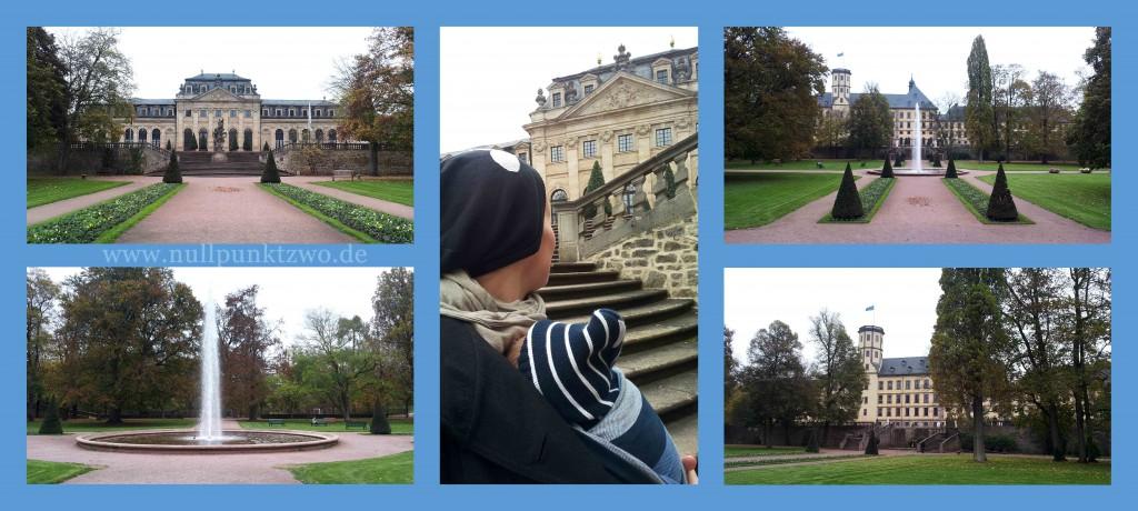 Links & mittig Orangerie, rechts Stadtschloss von der Seite