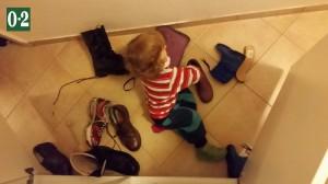 Schuhesortieren