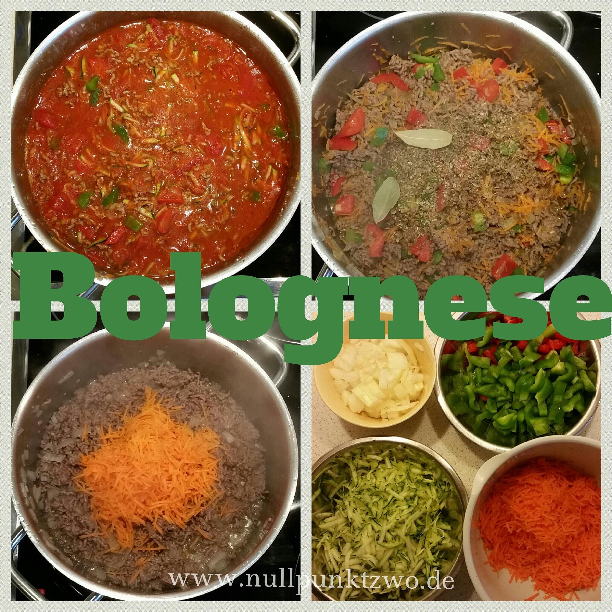 Bolognesesauce zu Nudeln oder Reis