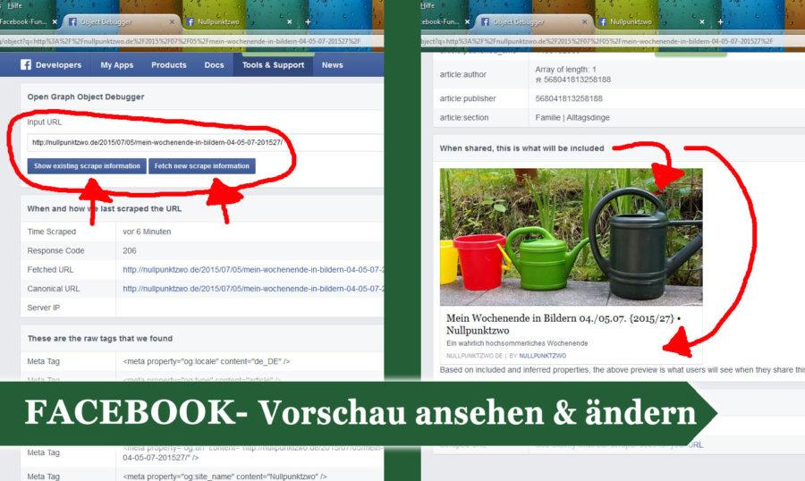 Facebook Vorschau ansehen und ändern