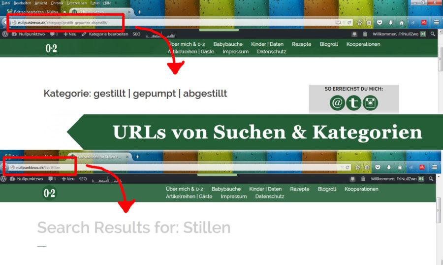 URLs von Suchenanfragen und Kategorien verlinken