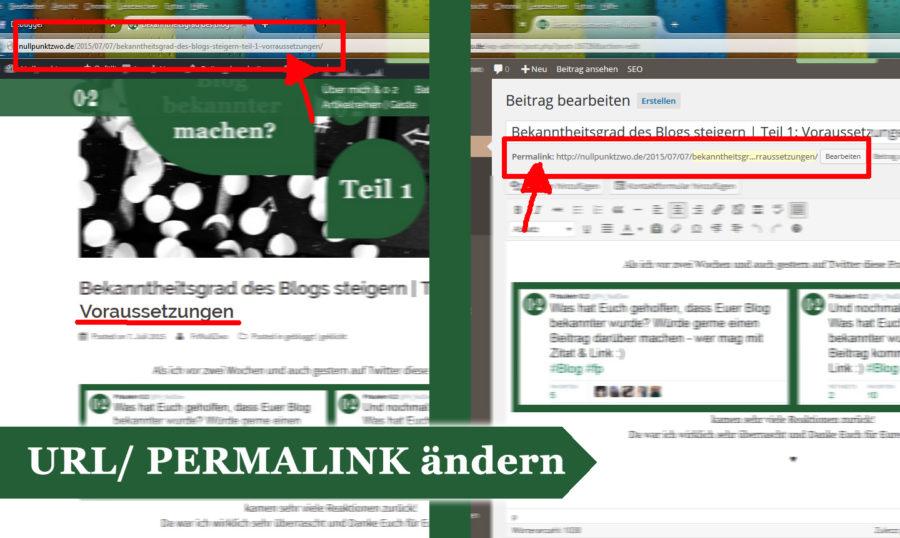 URL finden und aendern