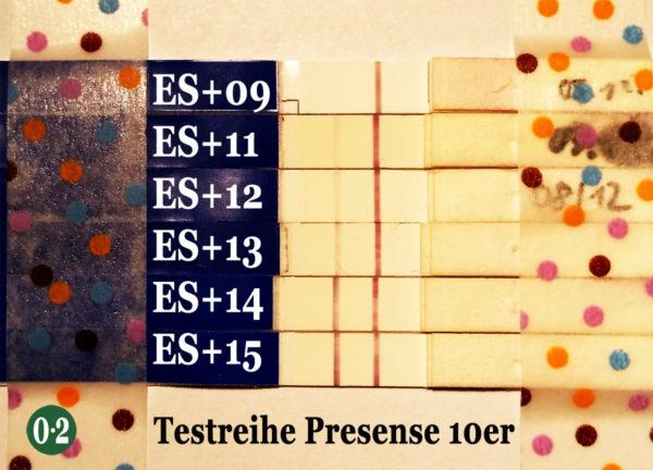 Testreihe Presense 10er Eisprung+09 bis Eisprung+15