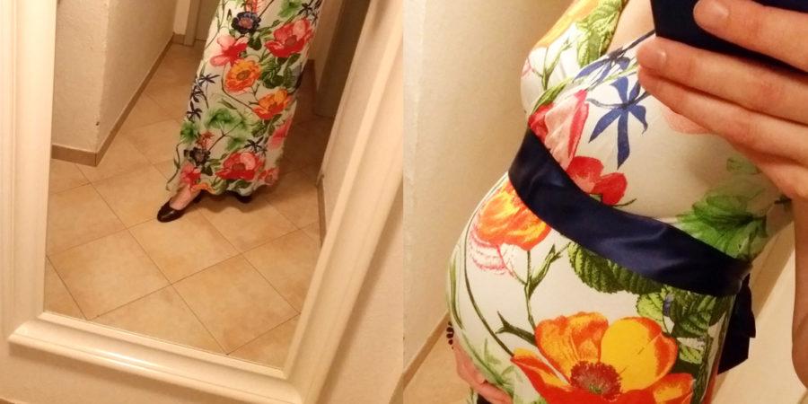 Florales Kleid für die Hochzeit