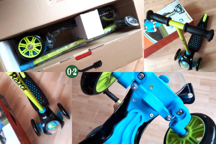 Aufbau und Mechanik des T3 Razor Scooters
