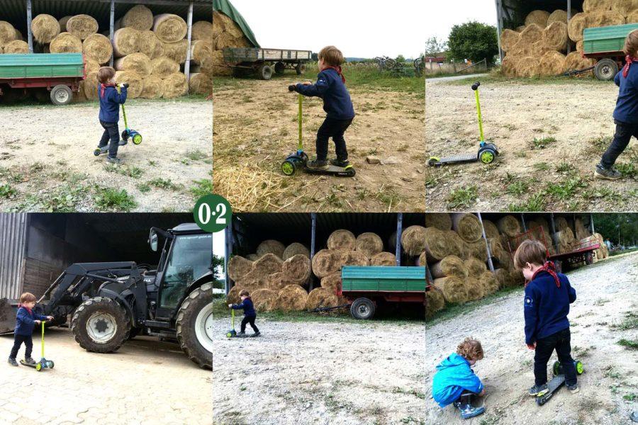 Bauernhof: Nur echt mit Strohballen!