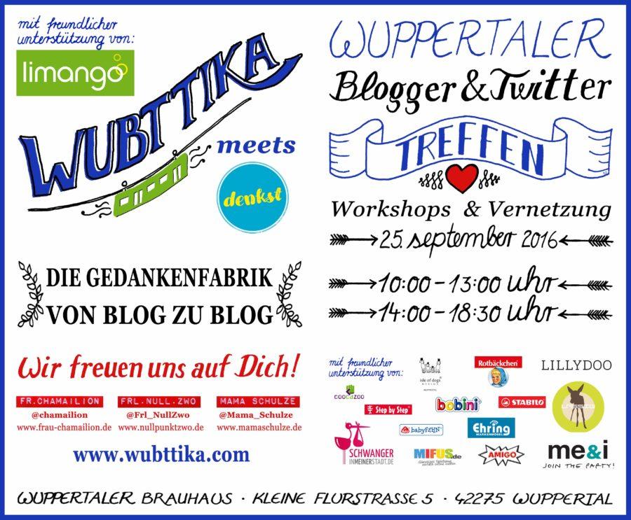 Webseite zur Veranstaltung WUBTTIKA 2016