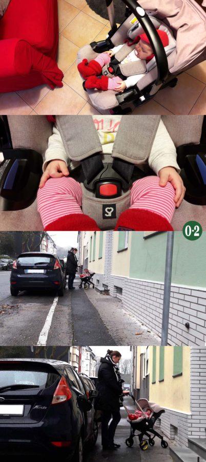 Mit dem Doona+ einfach zum Auto rollen statt schleppen