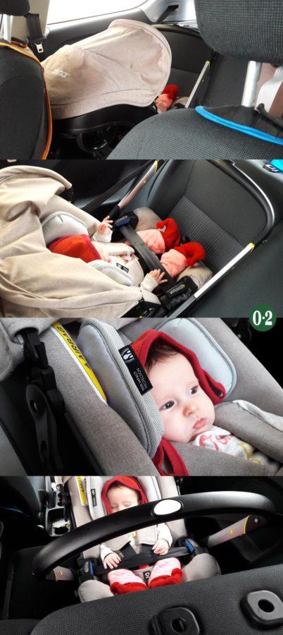 Der Doona+ auf dem Autorücksitz