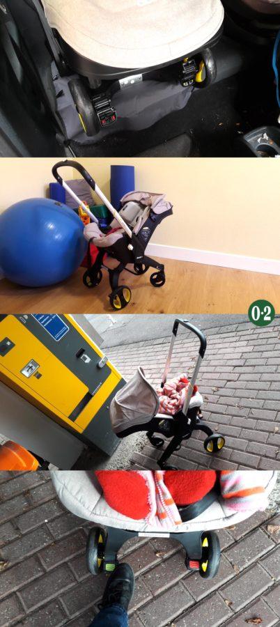 Weite Parkhauswege und das Baby sicher