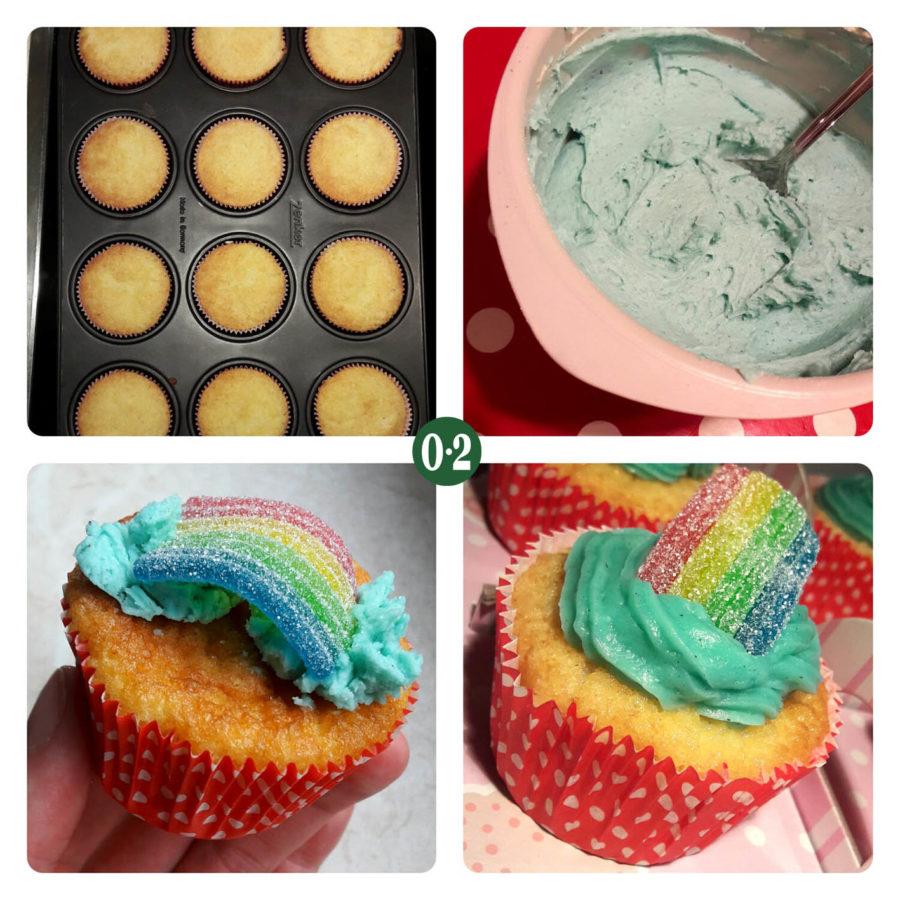 Regegenbogen- Cupcakes