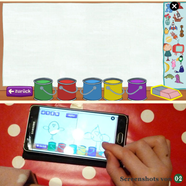 Malen mit Toggolino (Screenshot vom Smartphone)