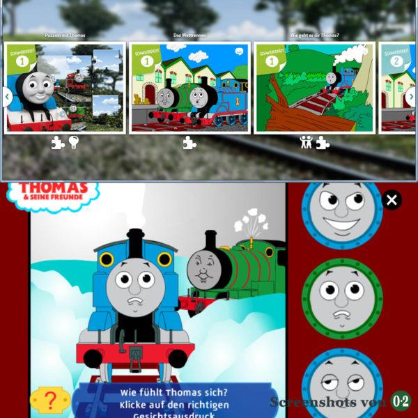 Spiele mit Thomas (Screenshots vom Smartphone)