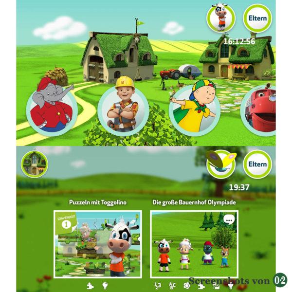 Screenshots ToggolinoCLUB: Spielauswahl (App auf dem Smartphone)