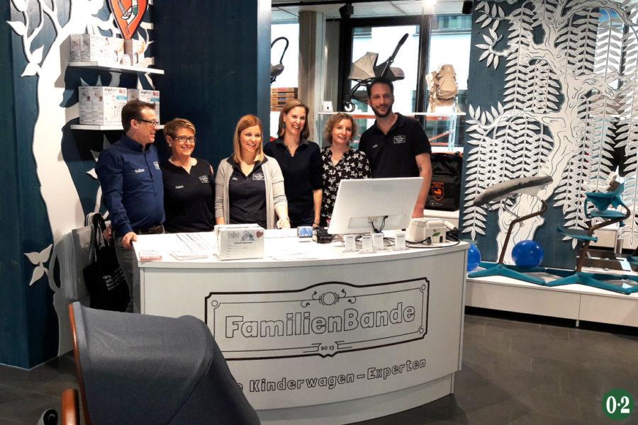 Das tolle Team der Familienbande in Köln mit jeder Menge Fachwissen