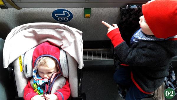 Anreise durch Berlin im Bus