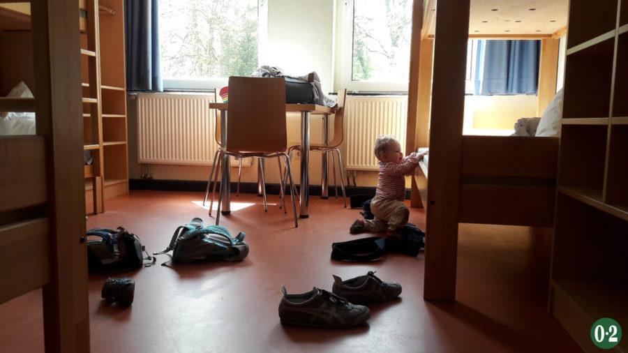 6-Bett-Zimmer der Jugendherberge am Möhnesee