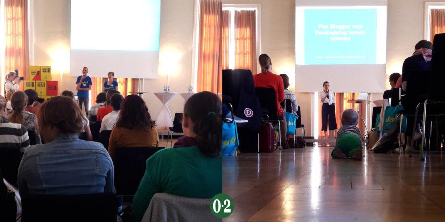 Eröffnung durch Susanne & Sven, danach Sophie und das Bloggerbaby