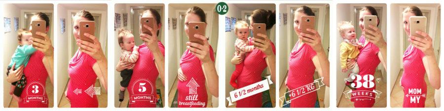 Bauch in den ersten Monaten nach der Geburt des 4. Kindes