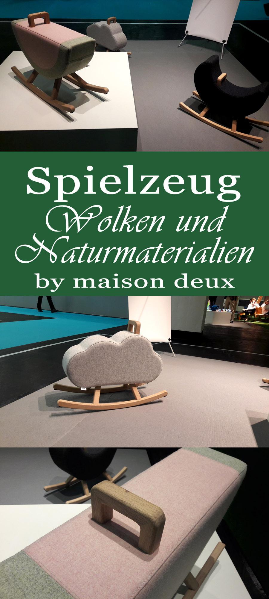 Kinderzimmertrends 2018: Wippen aus den Materialien Holz und Filz in Form von Wolken, Mond & Melone | www.nullpunktzwo.de