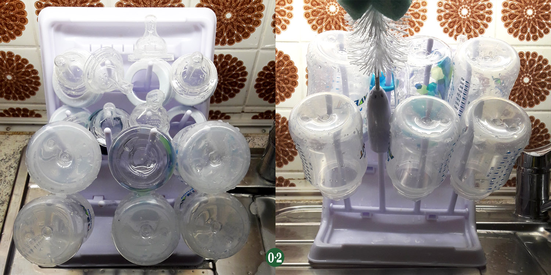 Babyflaschen Trocknen