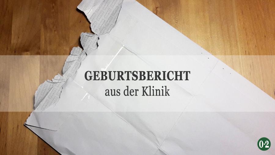 Briefumschlag mit Unterlagen zur Geburt
