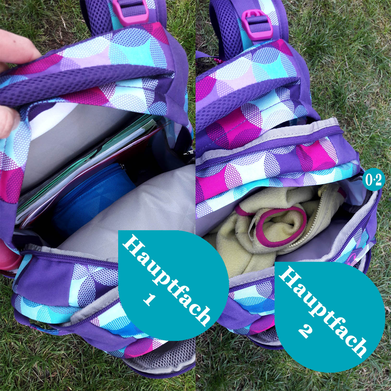 Zwei große Hauptfächer beim satch pack original