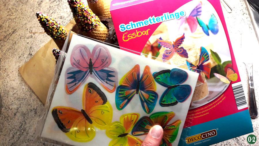 Dekor- Schmetterlinge aus Esspapier