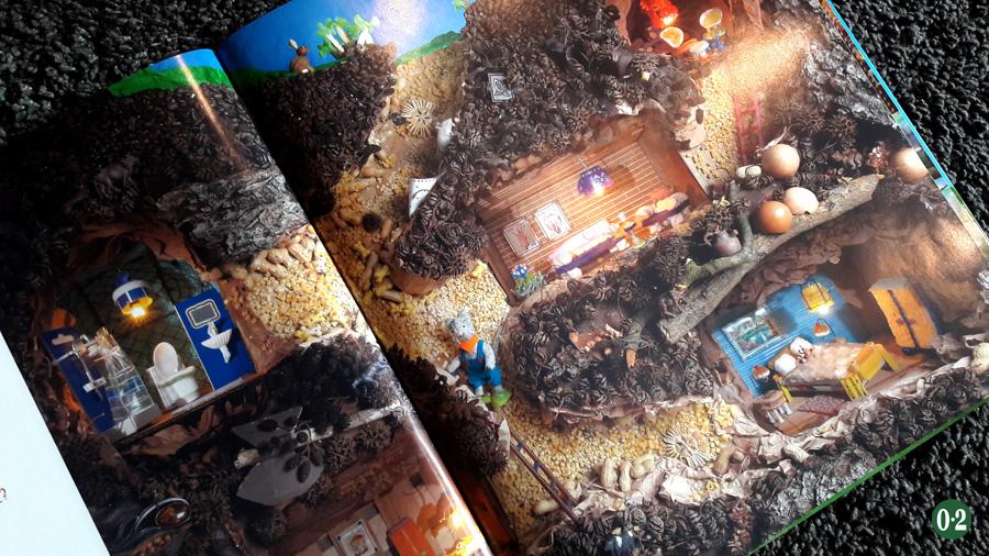 Alltagsgegenstände werden zu phantasievollen Szenen im Wimmelbuch mit Katz und Maus