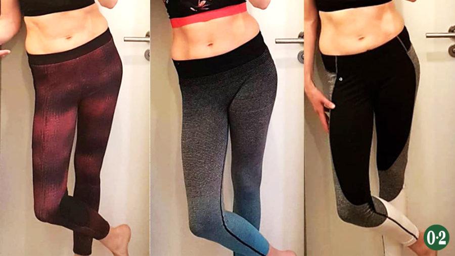 Unterschiede bei Yoga Hosen mit breitem Bund