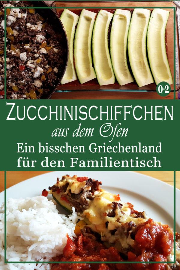 Leckere, mediterrane Küche für die ganze Familie mit Zucchini, Hack und Feta aus dem Backofen