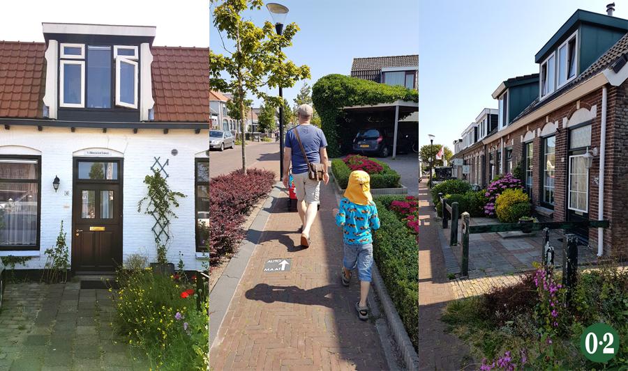 Niedliche Häuser und verkehrsberuhigte Strassen in De Cocksdorp