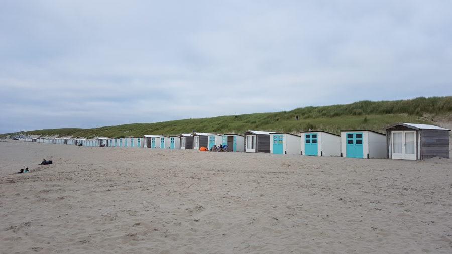 Strandhäuschen an Paal 17 auf Texel