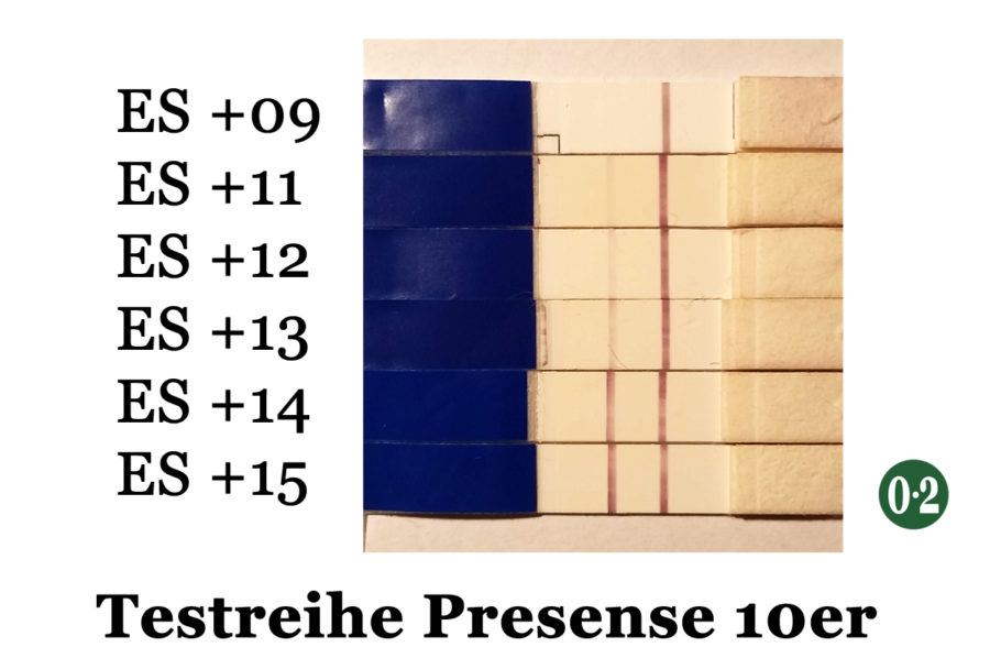 2015 | Schwangerschaftstest Presense 10er (Testreihe)